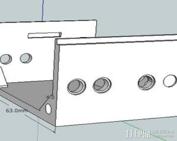 低音扬声器 3D模型  图5