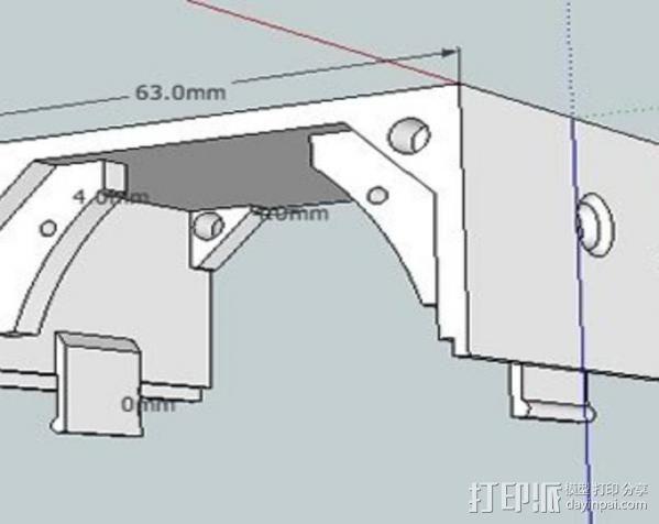 低音扬声器 3D模型  图6
