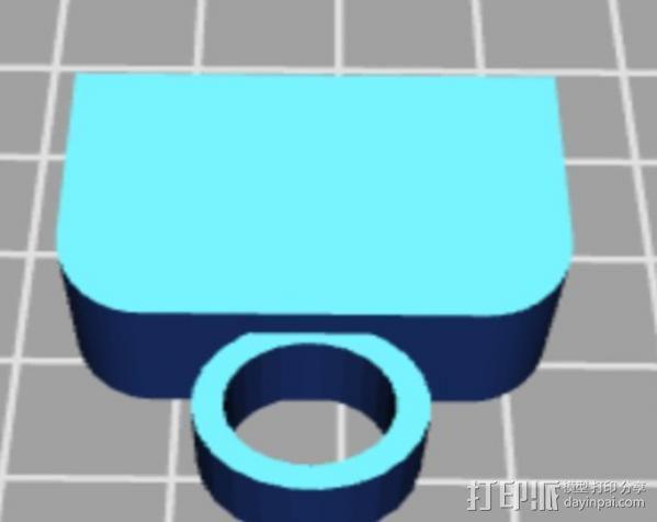 USB保护盖 3D模型  图6