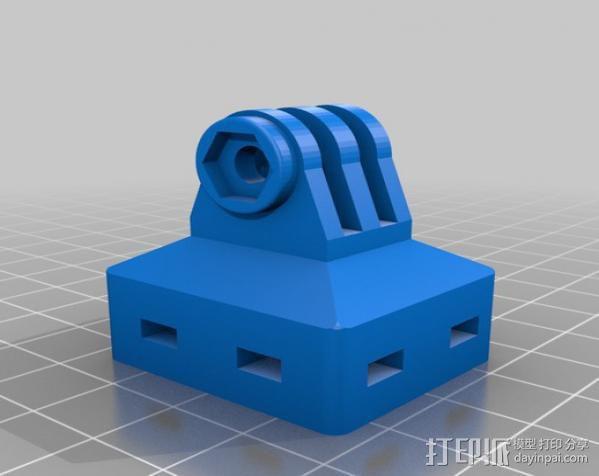 GoPro适配器 3D模型  图1