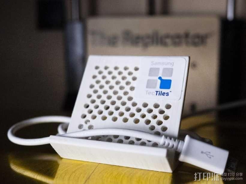 可充电手机座 3D模型  图1