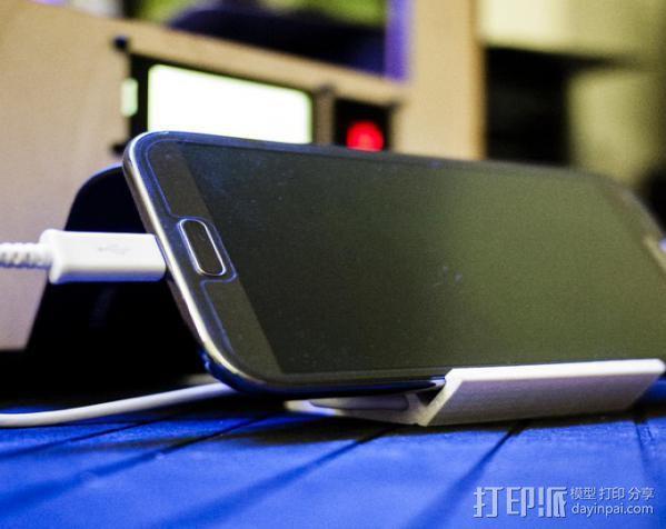 可充电手机座 3D模型  图2