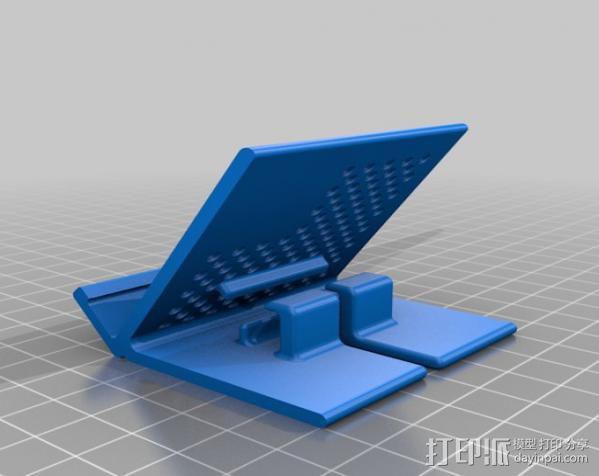 可充电手机座 3D模型  图3