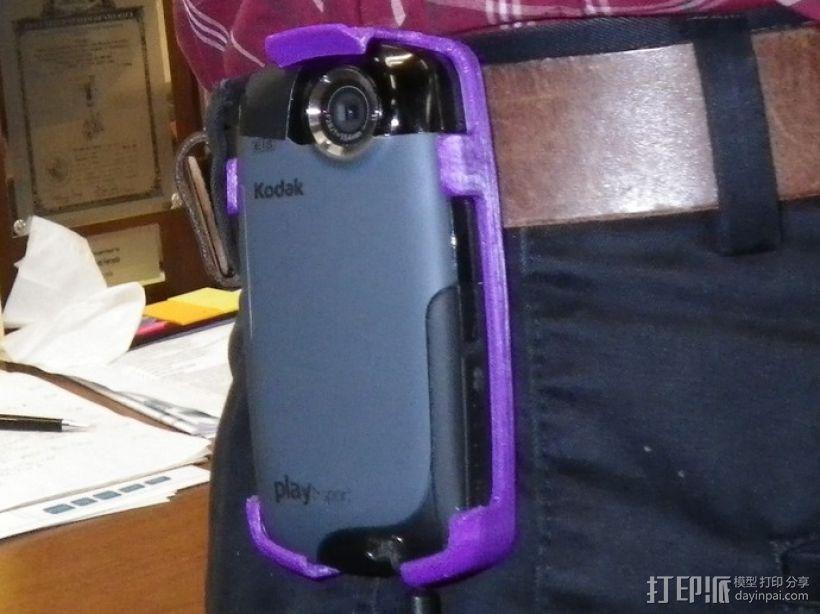 Kodak Playsport 皮带夹 3D模型  图1