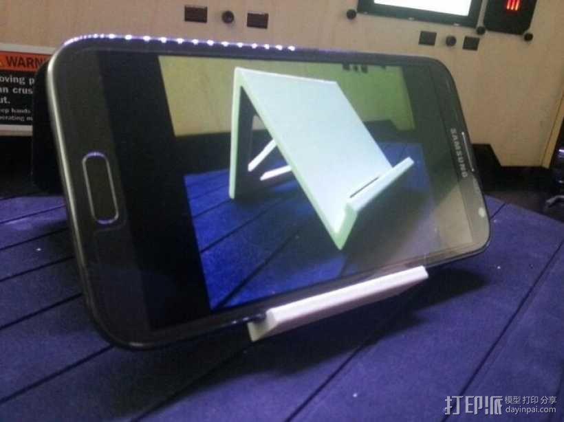 Note 2手机座 3D模型  图1