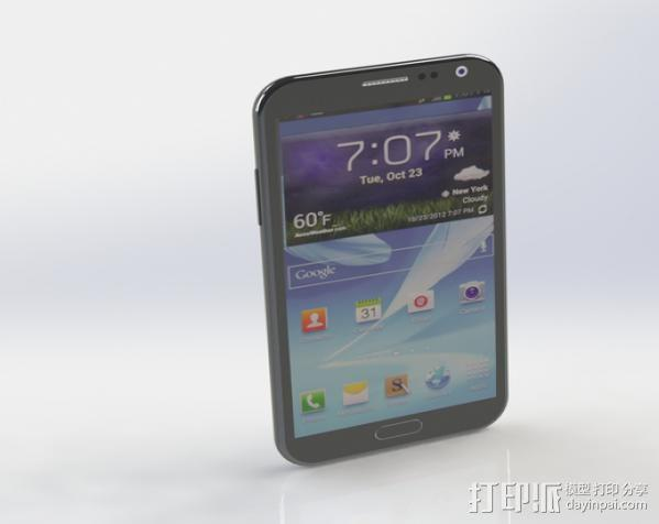 Samsung Galaxy Note II 3D模型  图1