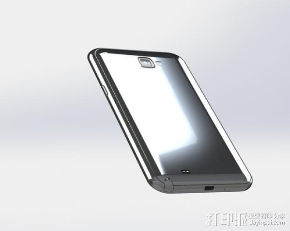 Samsung Galaxy Note II 3D模型  图2