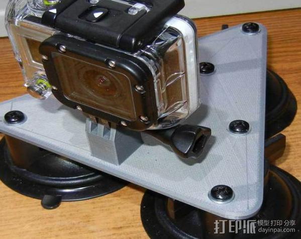 GoPro Camera 3吸盘支架 3D模型  图3