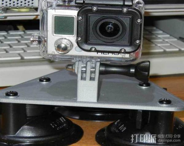 GoPro Camera 3吸盘支架 3D模型  图1