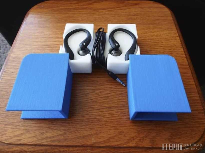 挂钩耳机收纳器 3D模型  图1