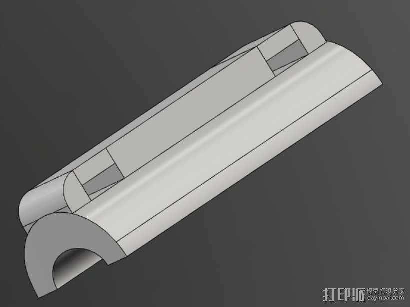 gopro适配器 3D模型  图3
