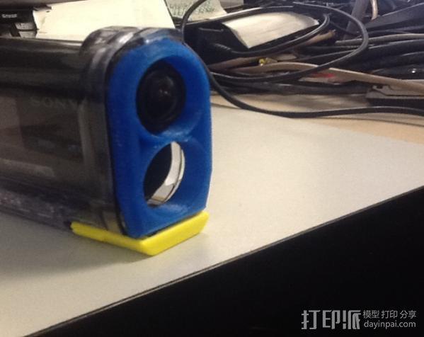 Sony Action Cam 镜头盖 3D模型  图1