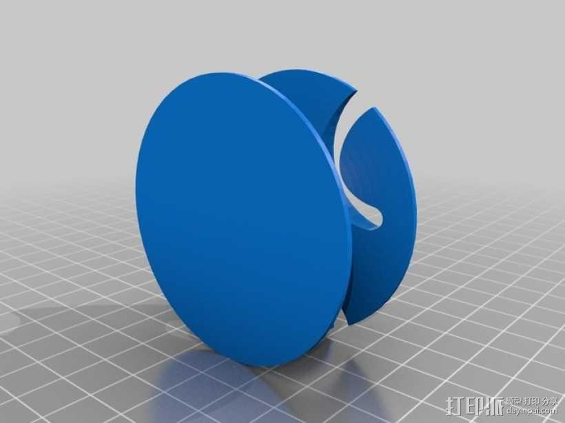 耳机绕线器 3D模型  图1