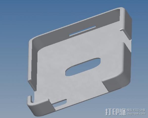 Basic Blackberry Z10 手机壳 3D模型  图3
