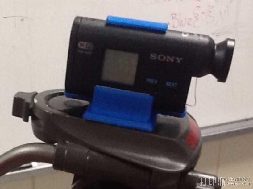 Sony Action Cam 适配器 3D模型  图1