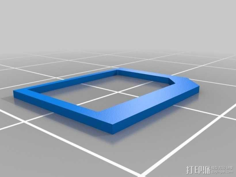 SIM卡适配器 3D模型  图1