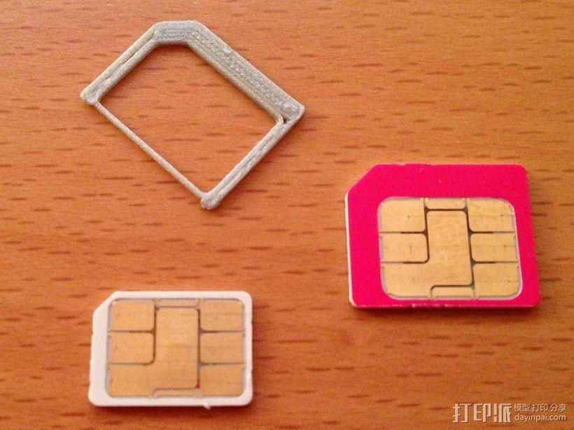 SIM卡适配器 3D模型  图3