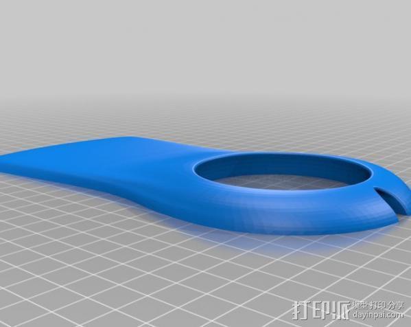 手杆底座 3D模型  图1