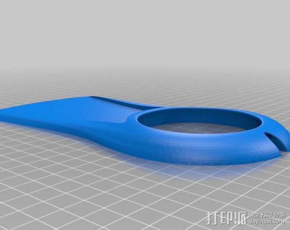 手杆底座 3D模型  图2
