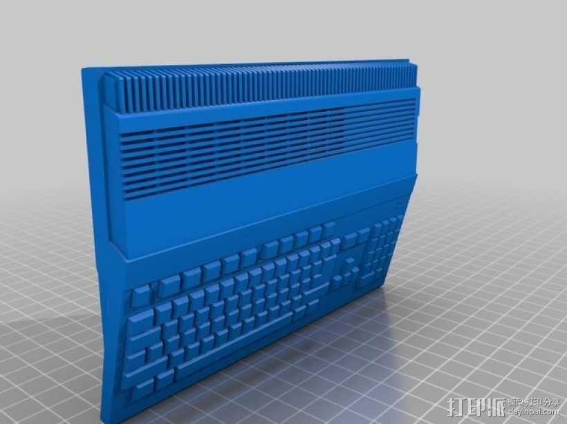 Amiga 500 电脑 3D模型  图1