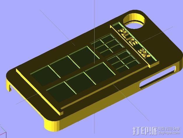iPhone 4/4S手机壳 3D模型  图2