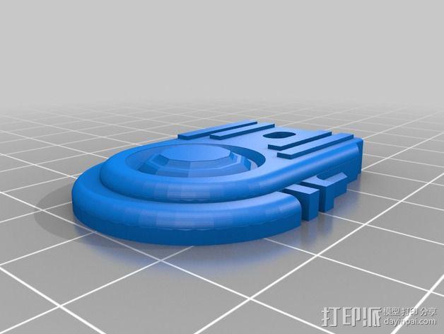 钥匙扣吊牌 3D模型  图1