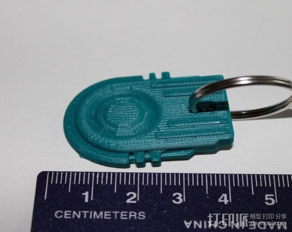 钥匙扣吊牌 3D模型  图3