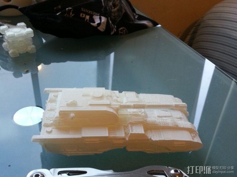 坦克摆件 3D模型  图1