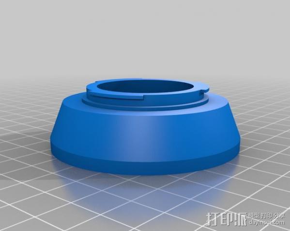 三星 尼康相机适配器 3D模型  图1