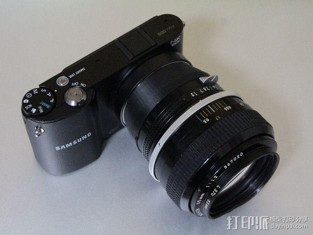 三星 尼康相机适配器 3D模型  图3
