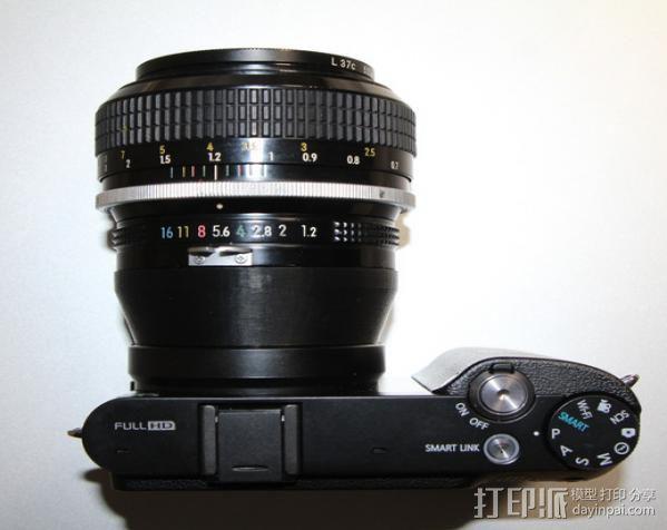 三星 尼康相机适配器 3D模型  图4
