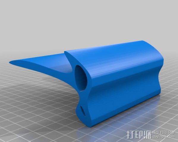 弧形手机座 3D模型  图1