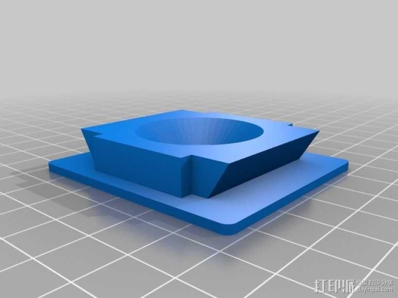Rectangular-ish三脚架适配器 3D模型  图1