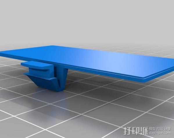 Gameboy电池盖 3D模型  图2