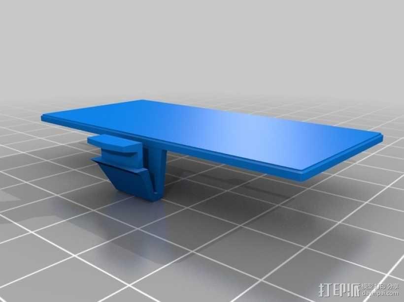 Gameboy电池盖 3D模型  图1