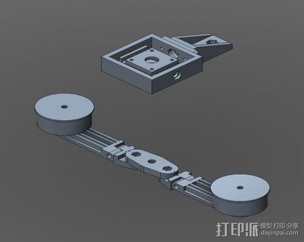 直流拍摄支架 3D模型  图4