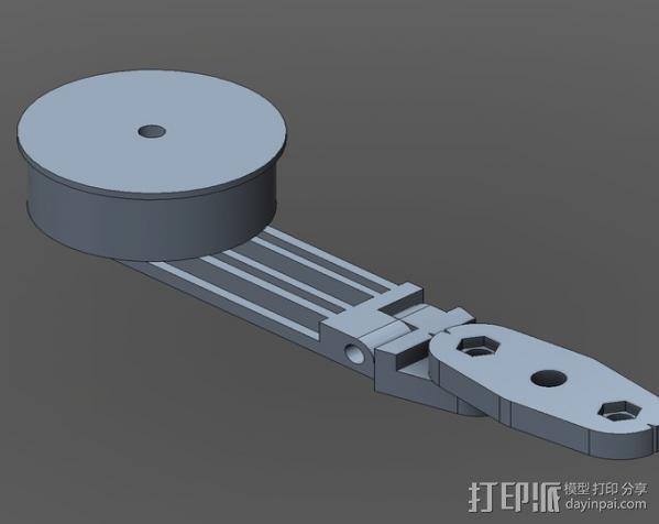 直流拍摄支架 3D模型  图6