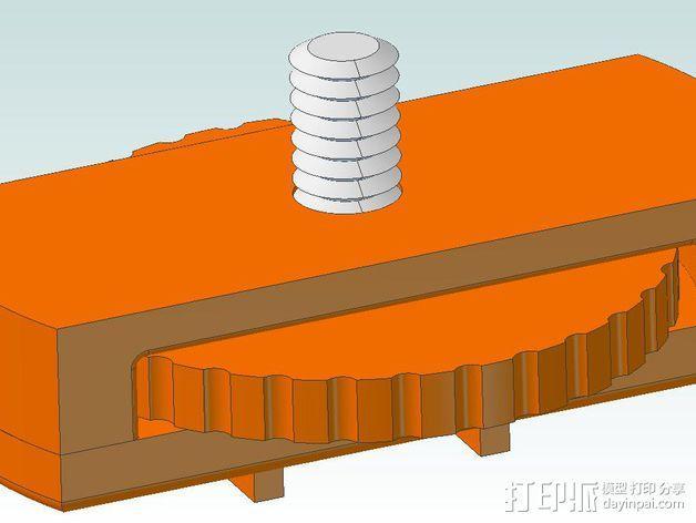 相机直线运动轴· 3D模型  图1