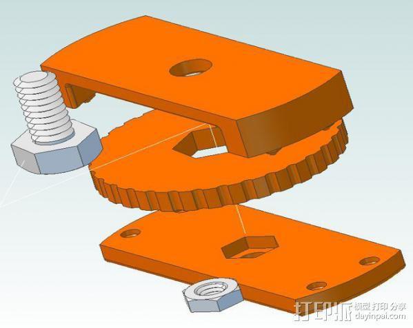 相机直线运动轴· 3D模型  图2