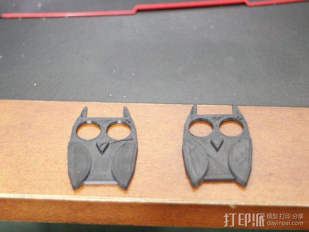 猫头鹰绕线器 3D模型  图3