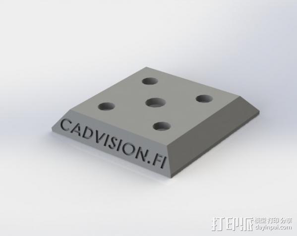 三角板适配器 3D模型  图1