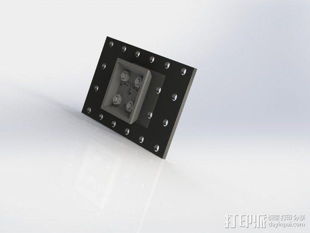 三角板适配器 3D模型  图2
