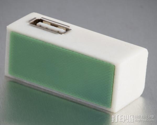Pentax D-Li90充电器保护壳 3D模型  图3