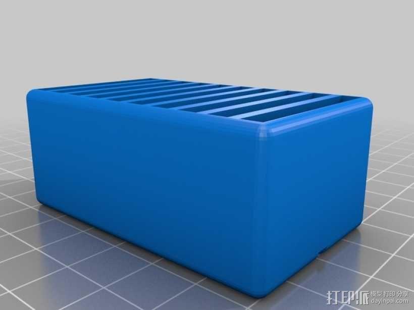 任天堂游戏机卡收纳盒 3D模型  图1