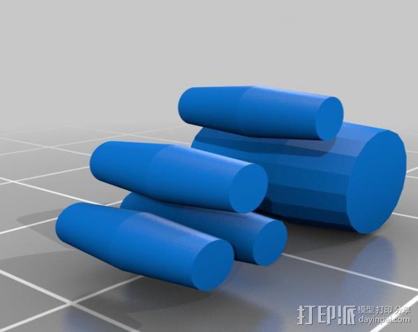 情人节小人摆件 3D模型  图3