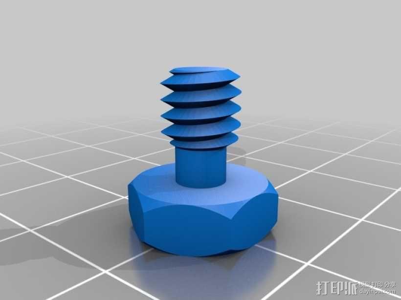 摄影设备螺丝 3D模型  图1