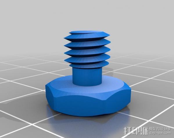 摄影设备螺丝 3D模型  图3