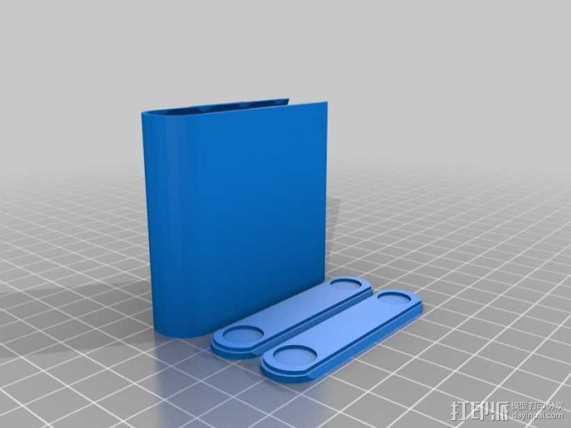 AA电池收纳盒 3D模型  图1