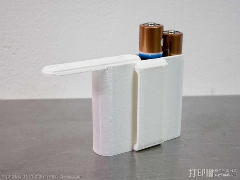 AA电池收纳盒 3D模型  图3