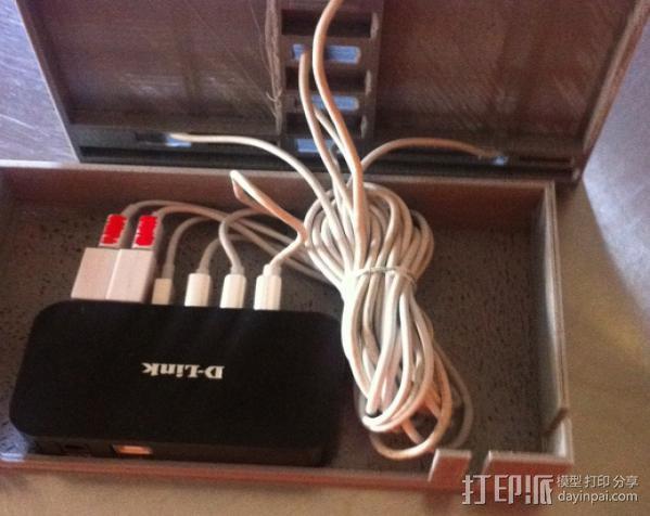 超级苹果USB收纳插座 3D模型  图2